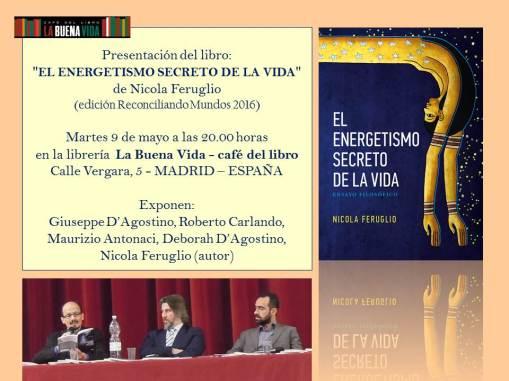Nicola Feruglio. Libro Energetismo presentazione alla Libreria La Buena Vida MADRID 9.5.2007